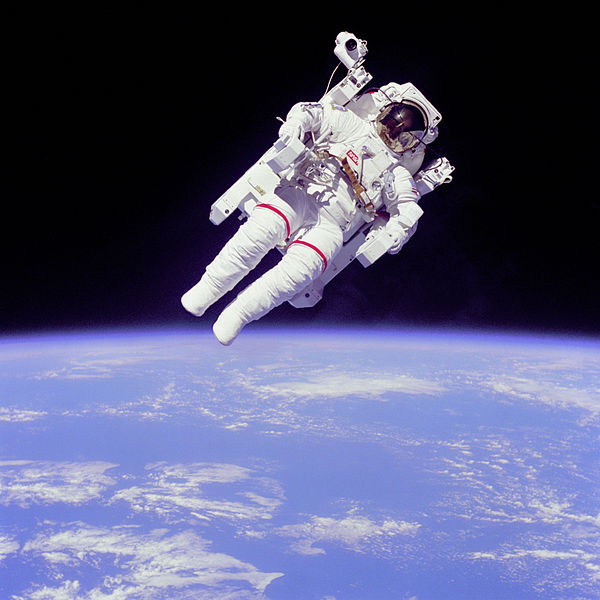 Pictured is Challenger Astronaut Bruce McCandless II. Photo courtesy of NASA.
