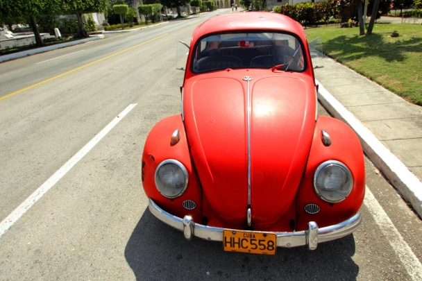 Red VW Bug