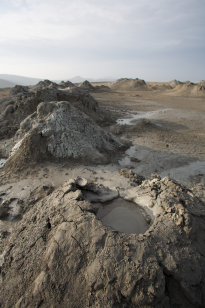 An example of a small mud volcano.