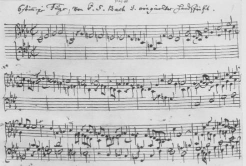 Original sheet music for Bach's Ricercar a 6.