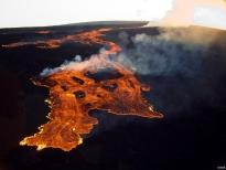 Mauna Loa's 1984 eruption. Credit: R.B.M, USGS